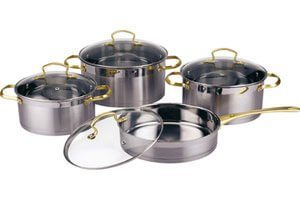 Stainless Steel Straight Shape Cookware