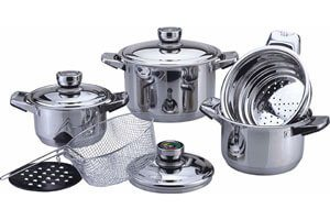 Stainless Steel Wide Edge Cookware
